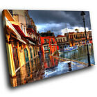 SC251 Venice Harbour Walkway Scenic Wall Art Picture Large Canvas Print