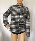 Womens Lands End Lightweight Down Jacket Slate Frost Houndstooth NWT W5