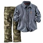 Carters Infant  Toddler Boys Denim Shirt  Camo Print Pants Set