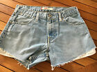 10 12 Levis Vintage Denim Cut Offs Hotpants Shorts Festival W305 L95 AN
