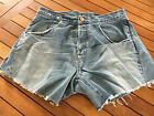 14 Levis Vintage Denim Cut Offs Hotpants Shorts High Waisted W33 L13 AI