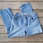 Vintage Bill Blass women 8 High Waist Tapered Leg Mom denim Jeans make cut offs