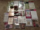 HUGE CHRISTMAS SCRAPBOOK LOTMost NewDies Punch Stamps  More
