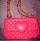 Pink Womens Moschino Designer Bag Genuine