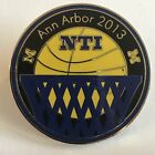 Michigan Wolverines Ann Arbor 2013 NTI Basketball Pin NCAA