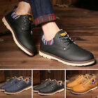 Autumn Men s Fashion Casual PU Leather Lace up Sneakers Shoes Saddle Shoes