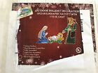 Outdoor Holiday Decoration 3pcs Holographic Nativity Scene with 175 UL Lights