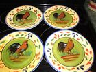Style Eyes Baum Brothers Provence Rooster Collection Dinner Plate Set of 4