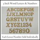 Wood Letters  Numbers CLASSIC Font 3 Inch Individual Letter or Number
