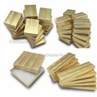100 pcs Gold Foil Cotton Filled Jewelry Gift Box With Variety Of Sizes