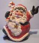 Fitz and Floyd Christmas Santa Cookie Jar Snow Business Excellent Condition