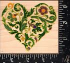Rubber Stampede Wood Mounted Rubber Stamp Ornate Heart