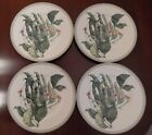 Set of 4 FITZ & FLOYD French Market PEAS IN A POD  Salad Plates ~ Mint Condition
