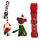 Our Holiday Pet Gift Set Includes Christmas Designer Dog Collar Squeaky Rope No
