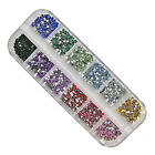 3000PCS Nall Art Rhinestone 2mm Round Diamante Gems 12colors  YS