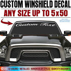 Custom Vinyl Text Lettering Decal Windshield Sticker Truck Car Jeep Banner