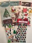Large Scrapbook Lot EK Success Jolee Sticko Christmas Lot of 5 Stickers
