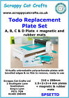 Todo Replacement Plate Set ABCD + mats by Scrappy Cat  SPSETTD 2