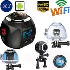 VR 360 Degree Action Camera 1080p 4K HD Go Portable Video Recording Pro Video OY