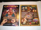 2 ORIGINAL BALLY THE CHAMPION PUB PINBALL MACHINE BROCHURE  FLYERS