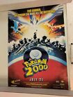 "Authentic Pokemin 2000 dual-sided movie poster 27""X40"""