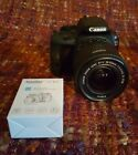 Canon EOS Rebel SL1 EOS 100D 180MP Digital SLR Camera with lens Black W05