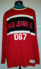 Vintage Polo Jeans Co 067 Ralph Lauren red long sleeve shirt size Large