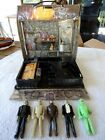 1980 Remco Mini Monster Play Case with 5 Vintage 3 3 4 Action Figures