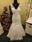 Wedding gown dress Lace mermaid vintage design new custom USA ivory white