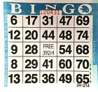 1 on Blue Bingo Paper Card Sheets (500 Sheets Per Pack) by American Games