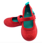 CHOOZE Sparkly Red Mary Janes Velcro Closure Metallic Play Shoes