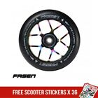 Fasen Jet 110mm Scooter Wheel Black Rainbow Neochrome inc Bearings