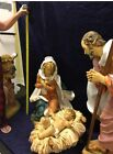 Large 50 inch scale Christmas Nativity Holy Family w Angel by Fontanini