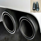 1x Car Carbon Fiber Exhaust Pipe 63MM IN 89MM OUT Muffler Tip Tail Throat Glossy