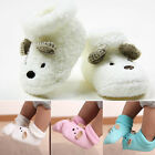 Infant Newborn Baby Boy Girls Fleece Booties Socks Cartoon Crib Shoes Soft Boots