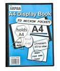 Arpan Black A4 Presentation Display Book Folder Folio with 24 Strong Pockets ...