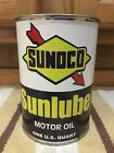 Sunoco Sunlube Motor Oil Can 1 Quart Gas sign Reproduction Vintage Style Gas