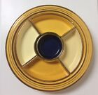 Vintage Fiesta 6 Piece Relish Tray With Gold Decal Striped Trim Fiestaware