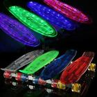 COMPLETE SKATEBOARD LED LIGHT UP WHEELS 22 ALLOY TRUCK CLEAR BOARD NEW