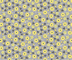 Floral Daisy Garden Yellow Fabric Printed by Spoonflower BTY
