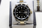 ROLEX SUBMARINER 16613 BLACK DIAL 18K YELLOW GOLD & STAINLESS STEEL 40MM