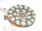 ca.1900 BEADED COIN PURSE Army Officer's Hat Design, Europe