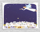 Religious Tapestry Nativity Angel Mary Print Wall Hanging Decor 80Wx60L Inches