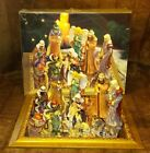 Holiday by Kirklands 13 pc 7 Nativity DP 053027 Glaze 14K w Mirror Christmas