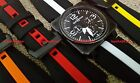 JaysAndKays® 24mm Silicone Rubber Strap Striped Band for Bell & Ross BR-01 BR-03