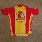 Adult Vintage SPAIN ESPANA Team Cycling Bicycle Jersey Short Sleeve Shirt Medium