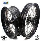 2.5/4.25 WHEELS FIT KTM 950 KTM990 2003-2018 RIM SET OEM SIZE BLACK CNC HUB RIM