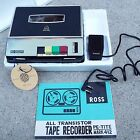 Ross All Transistor Tape Recorder Pe Tite Mark 412 w Manual  Microphone