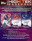 2017 TOPPS HIGH TEK BASEBALL MLB HOBBY BOX Factory Sealed New w 2 ON-CARD AUTO