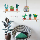 Colorful Plants Are Friends Happy Cactus Wall Sticker Decal  Kindergarden Decor